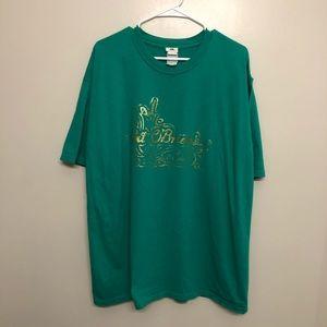 Universal studios pat O'Brien's pub shirt green